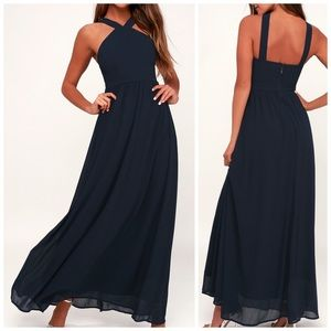 Lulu's Air of Romance Maxi Dress - Sm